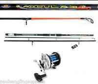 Carbo 14ft Beachcaster Beach Sea Fishing Rod & Multiplier Reel
