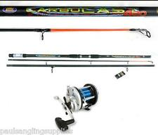 Lineaeffe Carbocast 14ft Beachcaster Beach Sea Fishing Rod & Multiplier Reel