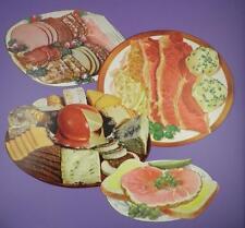 Original 1950s American Diner Paper Die Cut Signs - Deli / Food Platter - Lot B
