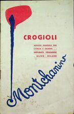 Crogioli: impianti fonderie: Olivo: Milano: Montchanin.