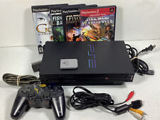 Sony PlayStation 2 PS2 Fat  Console With Controller Tested Working 4 Games