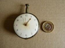 George Fivey - Georgian solid silver fusee pocket watch - Irish - RARE