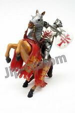 BBI Papo Toys Scale 1:18 Knights Series Horse with Knights Figure Set