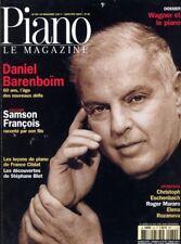 Piano magazine n° 32 avec CD - Janvier-Février 2003 - Daniel Barenboïm