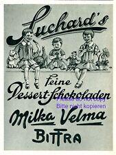 Suchard Desert Schokolade Reklame 1928 Kinder Puppe Kuscheltier Teddybär Werbung