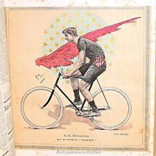Le Cycle 1894 9 plates Bicycle Racing Cycling Book Tour de France Maurice Garin