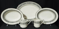 5 pc NORITAKE Porcelain China PRELUDE bowl platter cream sugar IVORY dinnerware