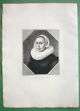 ORIGINAL ETCHING Print - Portrait of Young Woman by KEIJSER