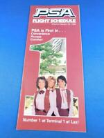 FEBRUARY 1984 PSA PACIFIC SOUTHWEST AIRLINES FLIGHT SCHEDULE TIMETABLE ADVERTISE