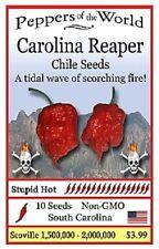 Carolina Reaper Chile Seeds--Non GMO