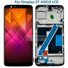 For Oneplus 5T A5010 LCD Display Touch Screen Digitizer Replace Black + Frame