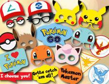 19Pcs Photo Booth Props Kit Pokemon Party Camera Kid Selfie Frame Decoration Set
