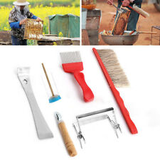 7-in-1 Beekeeping Equipment Bee Brush Catcher Uncapping Fork Cage Queen Hive Kit