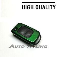 Tasto verde COVER Mercedes Benz Remoto Fob 2 Button Hull Cap Borsa Shell 72gre