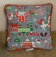 New Disney Christmas Holiday Throw Pillow Happy Jolly Merry Small World, Tiki