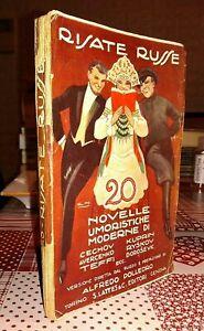 Risate Russe Novelle umoristiche moderne S. Lattes & C. -  Editori 1926