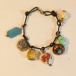 Womens Bracelet multi charm tree of life hippie boho  costume Jewellery