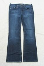 7 For All Mankind Blue Womans Womens Jeans Pants Bootcut 28 Cotton Spandex J18