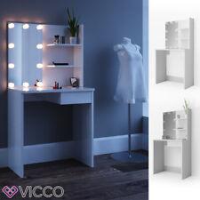 Vicco Coiffeuse table de maquillage Dekos avec miroir Blanc + LED