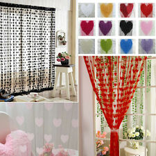 Cute Heart Panel Line String Tassel Curtain Window Door Cover