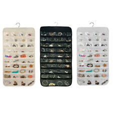 80Pockets Organizes Hanging Jewelry Organizer Display Earring Rings  Storage Bag