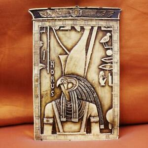 Amazing Antique Egyptian Wall Plaque Ancient King Falcon HORUS God of Kings
