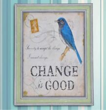 Wall Painting Picture Canvas Wooden Frame Art Modern Design -Change is Good