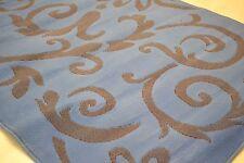 Blue Brown Damask Floral rug Modern design SALE PRICE 120x160cm