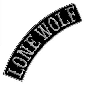 """VEGASBEE® LONE WOLF BLACK-GRAY IRON-ON PATCH BIKER JACKET VEST TOP ROCKER 12"""" US"""