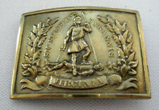 Civil War Reproduction Virginia Seal Rectangle Brass Belt Buckle