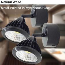 2XRV Camper 12v Wall LED Reading Light On/Off Switch Vintage Black Natural White