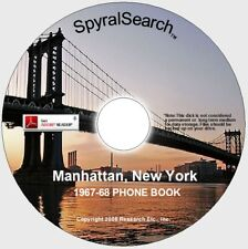 NY - Manhattan 1967-68 Phone Book CD - Searchable!