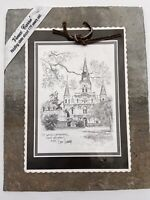 """Decorative Historic New Orleans Roofing Tile Print Of  St. Louis Cathedral 9""""x7"""""""