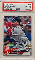 RAFAEL DEVERS ROOKIE 2018 TOPPS CARD #18 PSA GRADED 8 BOSTON RED SOX ALL STAR RC