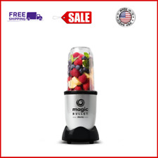 Magic Bullet Mini Blender, 7 Piece Set, 200 Watt with Cross Blade, Silver