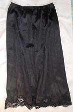 Vintage Adonna Black Half Slip size M-30 Scalloped Lace at Hem