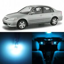8 x ICE BLUE Interior LED Lights Package For 2001- 2005 Honda Civic +TOOL