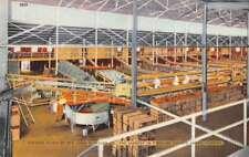 Largo Florida Packing Plant of John S Taylor Co Interior Antique Postcard J73953