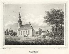 RUßDORF / RUSSDORF (LIMBACH-OBERFROHNA) - Kirchen-Galerie - Lithografie 1843