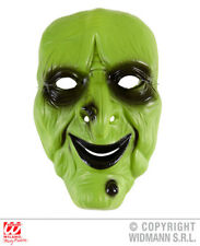 Pvc Green Witch Mask Wicked Halloween Masquerade Fancy Dress Accessory