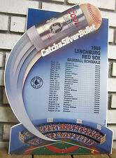 1989 Lynchburg Red Sox Baseball Schedule Coors Store Adv. - Defunct Minor League
