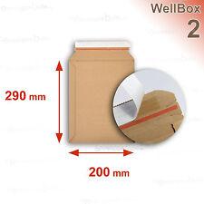100 Enveloppes carton rigide renforcé 215x290 mm Wellbox 2