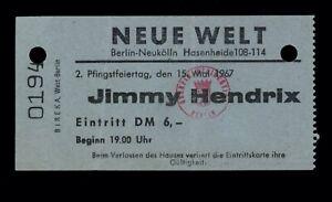 Jimi Hendrix Experience - May 15, 1967 original concert ticket