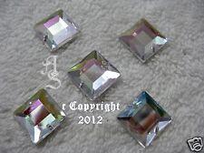 Aufnähsteine Acryl Strass Quadrat ca.12 mm AB Crystal Glitzersteine Karostonebox