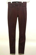 Hudson Womens Maroon Colored Skinny Mid-Rise Ankle Jeans 26 Leverage TV Wardrobe