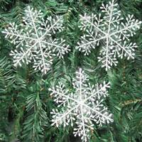 60Pcs Large White Snowflake Ornaments Classic Christmas Holiday Party Home Decor