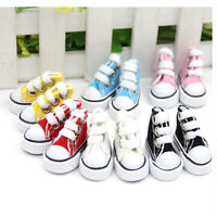 5cm Canvas Lace Up Sneakers Shoes For  & Boy Dolls plfES