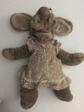1981 Vintage Ganz Bros Wrinkles Puppy Hound Dog Girl Puppet Tan Stuffed Animal
