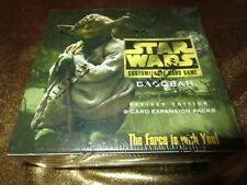Star Wars CCG Dagobah 1999 Expansion packs Decipher Wax Box NEW Factory Sealed