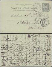 France 1897 - Postal stationery to Bataviea Dutch Indie D49